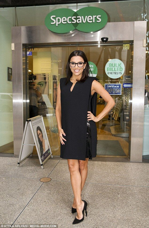 Not happy:Eva Longoria has launched a furious broadside against an Australian newspaper for accusing the star of pretending to need spectacles in order to market herself through an association with a popular brand