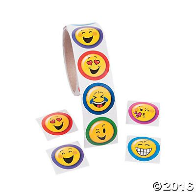 """These fun favors are perfect for your EMOJI theme birthday party. These are fun favors for your guests. 100 Assorted Stickers Measures 1.5"""""""