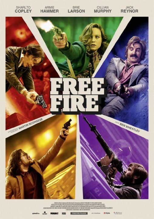 Brie Larson, Cillian Murphy, Sharlto Copley, Armie Hammer, and Jack Reynor in Free Fire (2016)