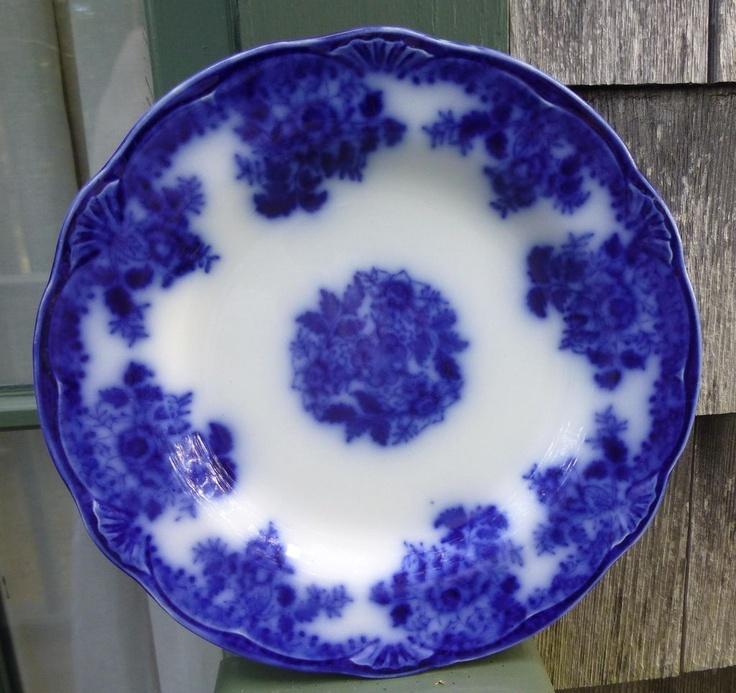 Antique flow blue plate flo pinterest