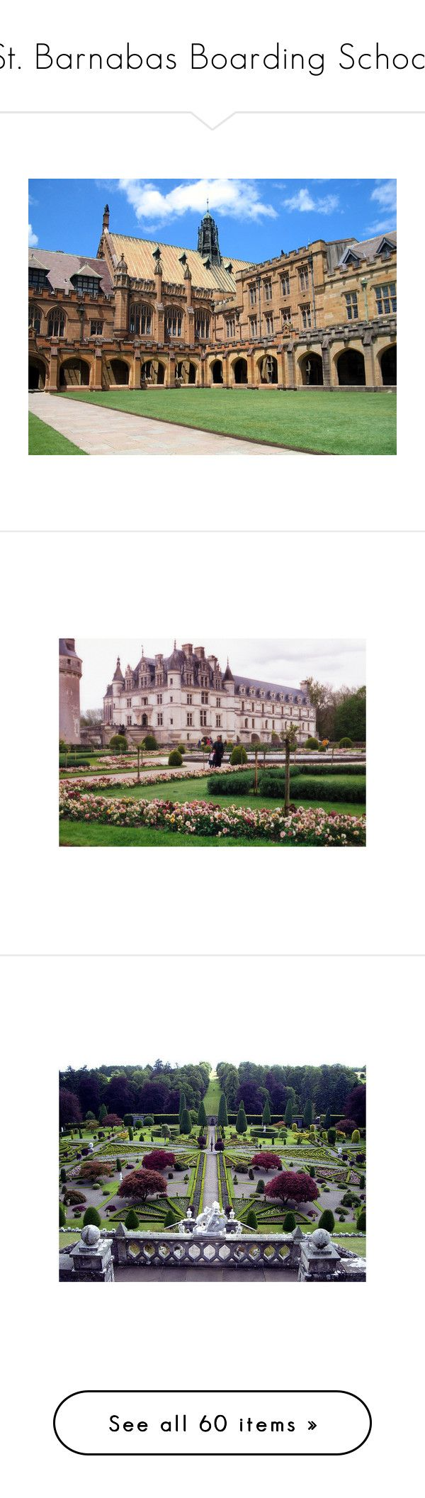 """St. Barnabas Boarding School"" by sgede11 ❤ liked on Polyvore featuring backgrounds, pictures, places, school, photos, house, scenery, shoes, people and filler"