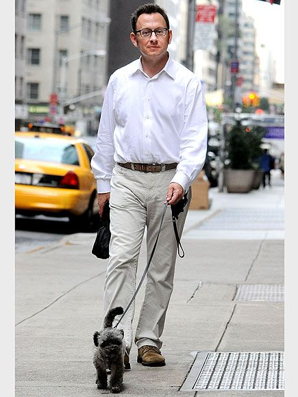 Michael Emerson (Ben) on a stroll with a friend.