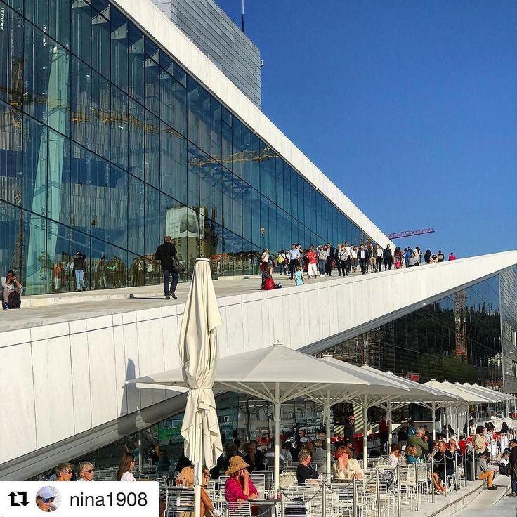 Oslo Operahuset. #reiseliv #reisetips #reiseblogger #reiseråd  #Repost @nina1908 (@get_repost)  Fortsatt sommer