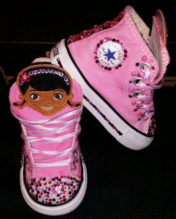8d79eaab89837 Girls Custom Converse- Kids Converse- Bling Converse- Doc Mcstuffins ...
