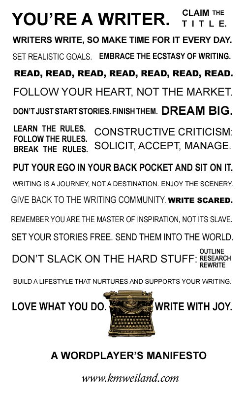 "From the website ""Wordplay: Helping Writers Become Authors."" Well worth consulting if you're a fellow writer. :)"