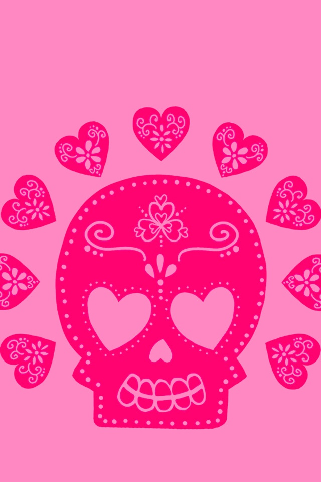 cute Love Wallpaper Iphone 4s : 213 best images about Sugar skulls/Skulls on Pinterest Limited edition prints, Skull art and ...