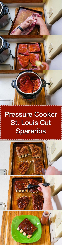 Pressure Cooker St Louis Cut Spareribs | DadCooksDinner.com via @DadCooksDinner