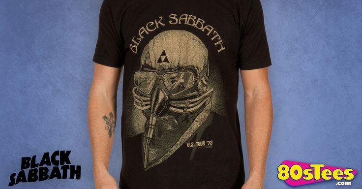 Tony Stark Black Sabbath Shirt made by Bravado in collections: Music: Black Sabbath, & Department: Adult Mens, & Color: Black