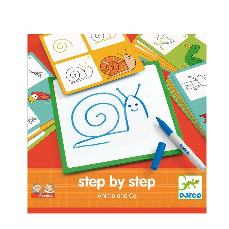 24 fiches pour apprendre à dessiner 24 animaux. Sur chaque petit tableau effaçable, l'enfant apprend à dessiner étape par étape. Il recommence autant de fois qu'il le souhaite. Une fois qu'il sait dessiner un lion, par exemple, il se lance et le dessine sur une feuille de papier. Un apprentissage ludique pour un résultat toujours réussi.