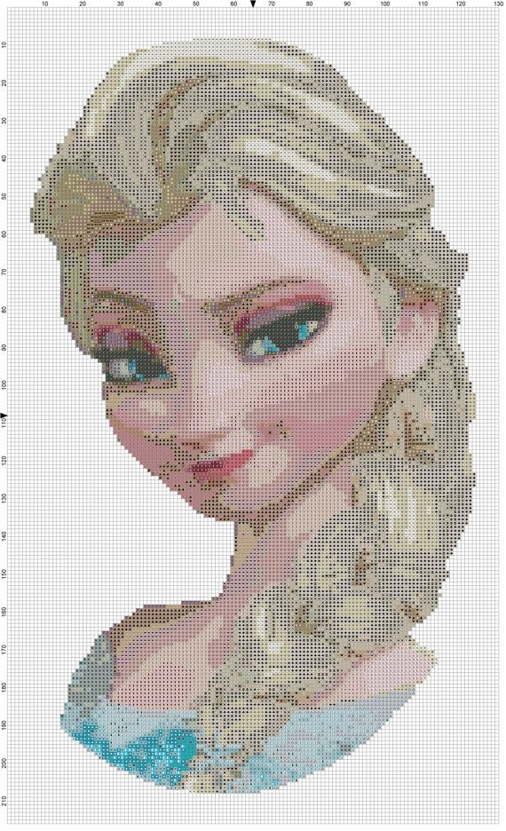 HD cross stitch pattern - Istant download