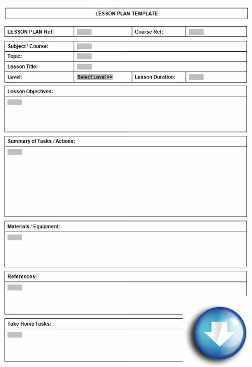 lesson plan template printable | Plan well organised lessons using a standard lesson plan format
