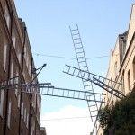 """My ladders provide an imaginative route across the road"" - Gitta Gschwendtner"