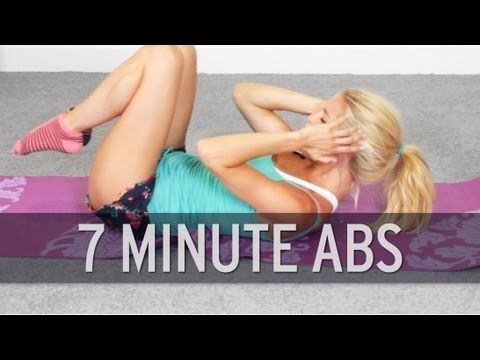 7 Minute Ab Workout - YouTube