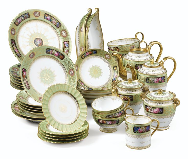 A Sevres Porcelaine Part-Service Louis-Philippe, dated between 1844 and 1847, Delivered for the Chateau D'Eu   sotheby's
