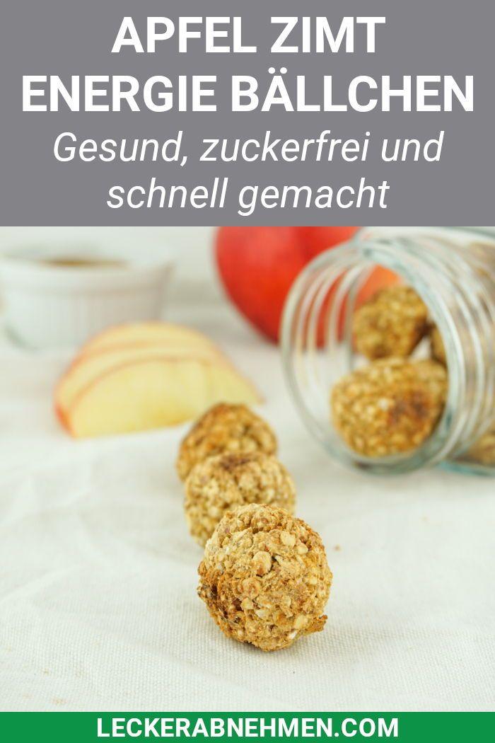 Apple Cinnamon Energy Balls – Gesunder und zuckerfreier Snack
