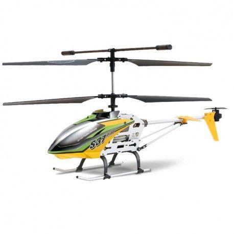 SYMA 3 CH REMOTE CONTROL 2.4G HELICOPTER WITH GYRO - S37 - YELLOW  Model:  YMTH04YL Syma Remote Control Helicopter termurah hanya di Gudang Gadget Murah. Syma 3 menggunakan teknologi GYRO yang membuat helicopter terbang lebih stabil. Syma 3-S37memiliki design yang lebih ramping, dilengkapi dengan fitur Speed function yang memungkinkan Anda dapat mengatur kecepatan terbang helicopter - Yellow