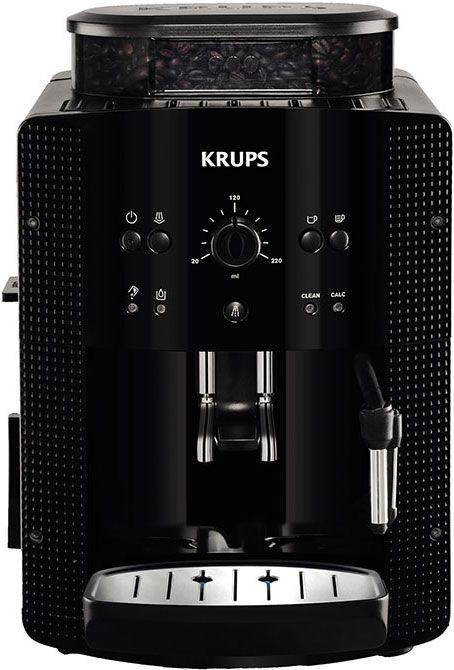 Krups EA8108  Krups EA8108: Meest compacte volautomatische espressomachine ter wereld Met de Krups EA8108 haal jij de meest compacte volautomatische espressomachine ter wereld in huis. Jij zet met de EA8108 de lekkerste koffie en dankzijhet stoompijpje kan jij zelfs melk opschuimen! Deze Krups koffiemachine heeft energieklasse A heeft een 260 gram bonenreservoir een 17 liter waterreservoir en werkt met het gepatenteerdeCompact Thermoblock Systeem. Niet voor niets heeft de Krups EA8108 een…