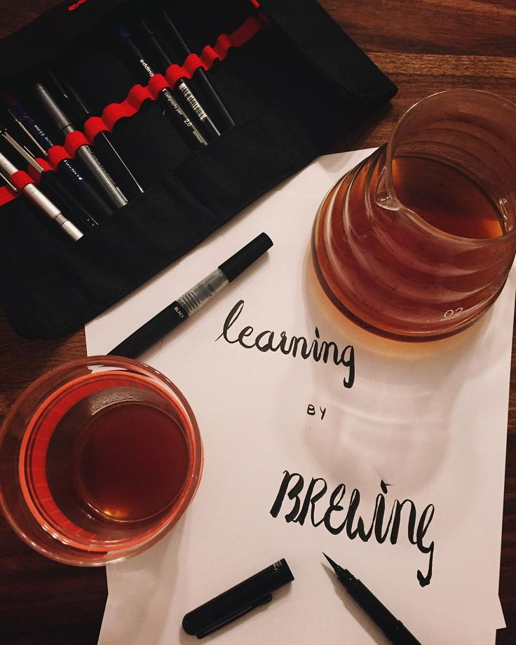 """Learning by brewing"""