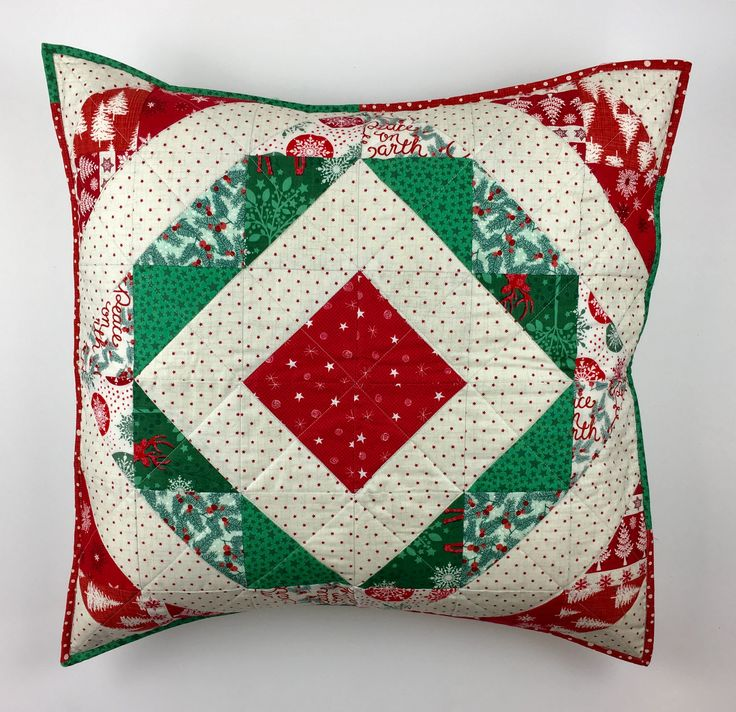Christmas cushion / pillow. Half square triangles.