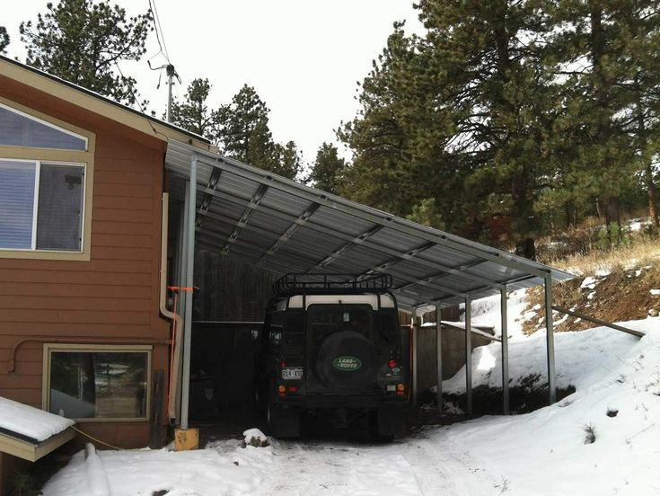 Single Slope Carport Kits Building A Patio Patio Outdoor Structures