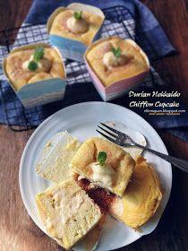 Durian Hokkaido Chiffon Cupcake - 榴莲北海道蛋糕