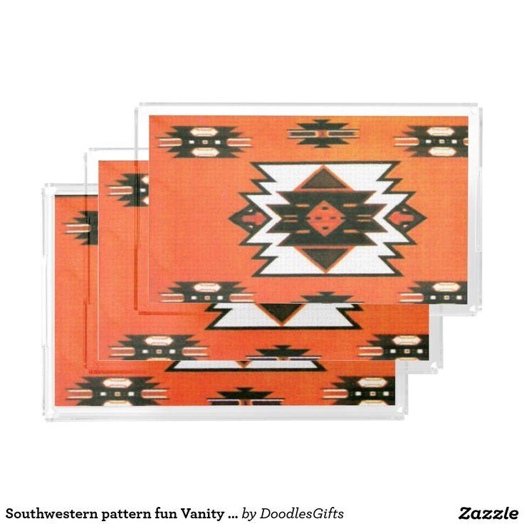 Southwestern pattern fun Vanity Trays Rectangle Serving Trays