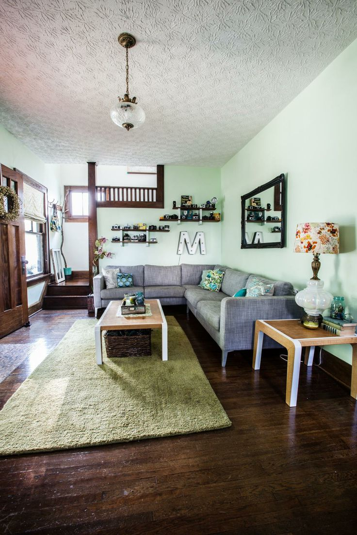 Craftsman home craftsman family room columbus by melaragno - Eclectic Living Room Before After On A Budget Photography By Coley