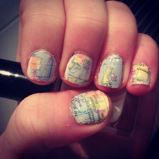 Map Nail Art