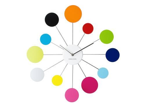Wall Clock - Multicoloured 'Water Lily' Clock by Karlsson