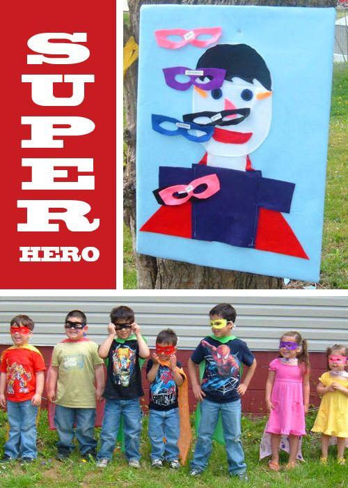 Superhero - pin the mask on the superhero