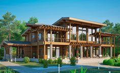 Проект «Истраград», общая площадь — 699,0 м2, автор проекта: архитектор Мария Борисова, компания Wooden House, проекты домов в журнале «Деревянные дома»