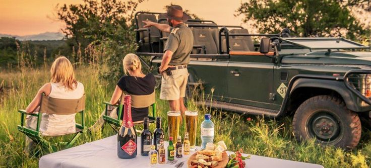 Game drives and sundowners are an ideal way to unwind