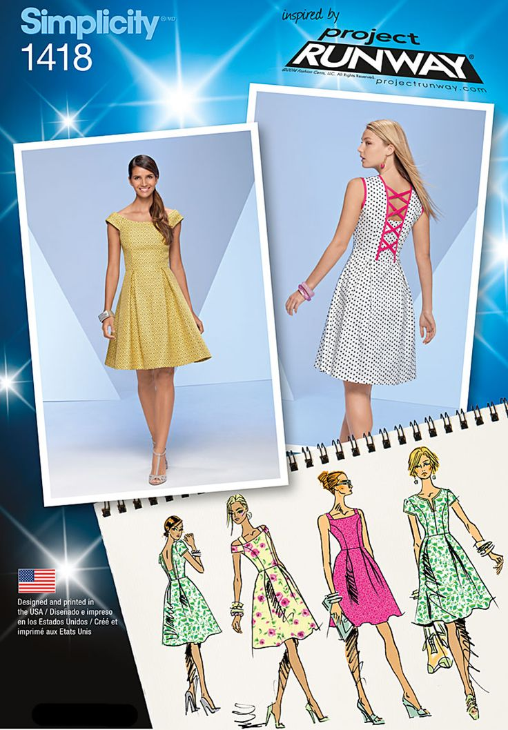 simplicity 1418 | Simplicity 1418 Misses' Dress with Bodice Variations