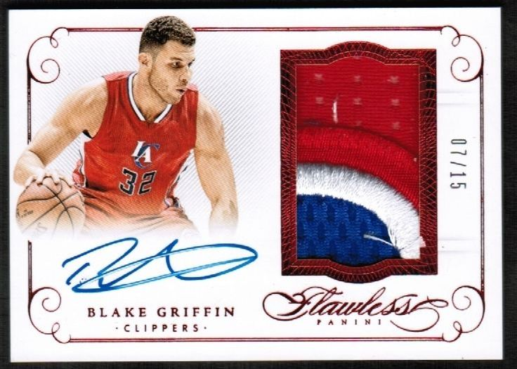 2015-16 Panini Flawless Patch Autograph Ruby #3 Blake Griffin #7/15 (ref A205)