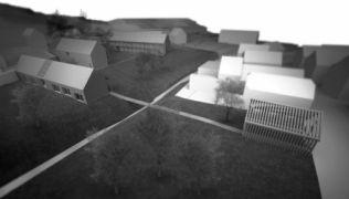 Alkotóház Zebegényben - az egyik 1. díjas terv