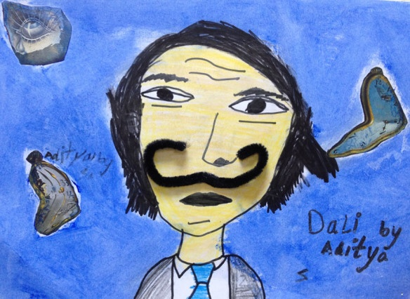 Dali for kids, a great class for understanding surrealism and explaining Dalí life