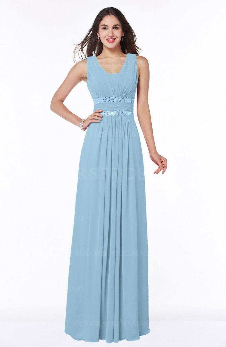 Best 25 ice blue bridesmaid dresses ideas on pinterest wedding ice blue glamorous a line zip up chiffon sash plus size bridesmaid dresses ombrellifo Image collections