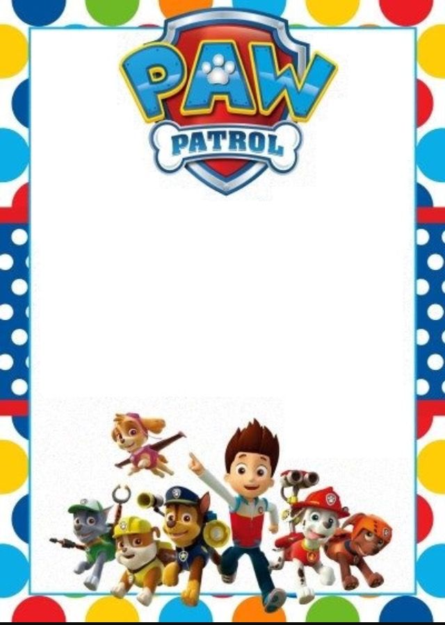 It's just an image of Modest Paw Patrol Borders