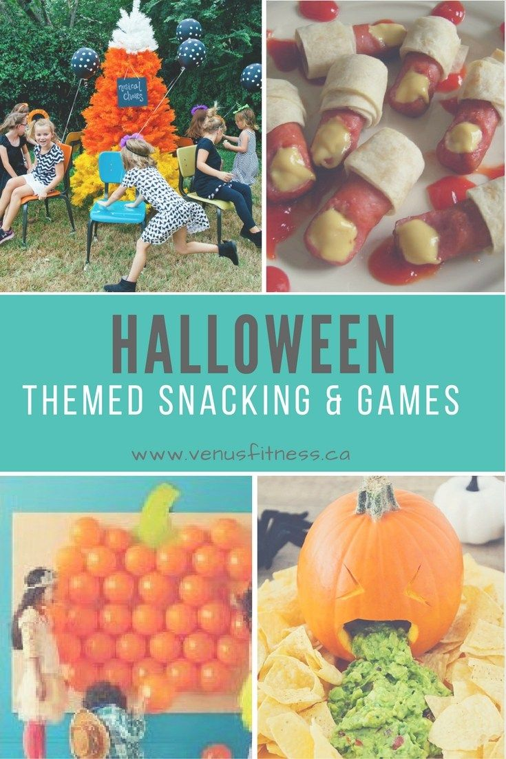 Halloween themed snacking and games