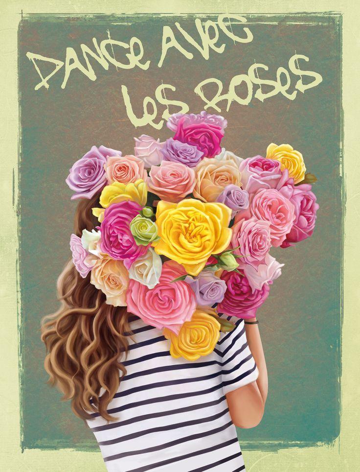 Dance avec les roses, Kate Kondrukhova on ArtStation at https://www.artstation.com/artwork/2ZqGx