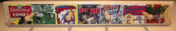 DC Comics Wood Hat and Coat Rack  Batman by SuperheroWallArt