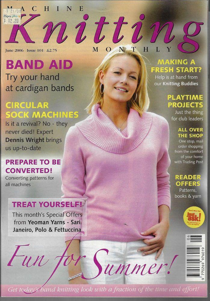 Machine Knitting Monthly magazine June 2006 Issue 101 jacket sweater top
