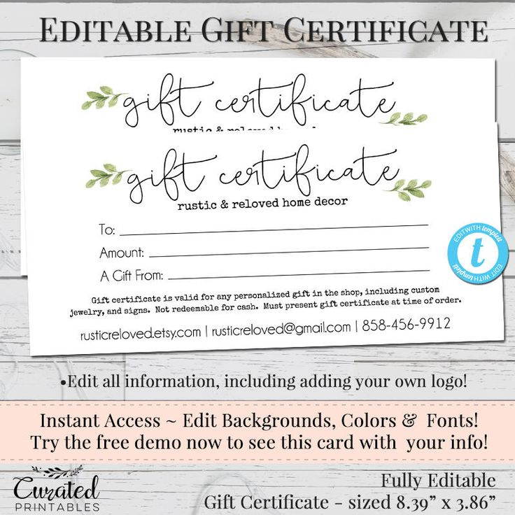 Best 25+ Printable gift certificates ideas on Pinterest Free - Hotel Gift Certificate Template