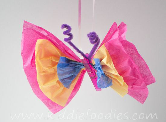 Butterfly craft for kids.  #craft