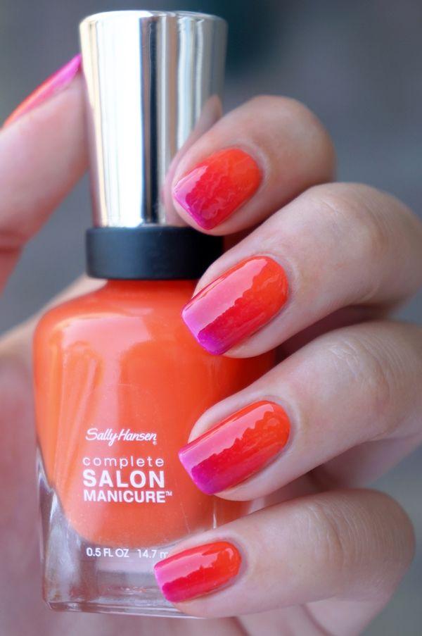 DIY Nail Art   Summer Gradiënt/Ombre ~ Beautyill   Beautyblog met nail art, nagellak, make-up reviews en meer!