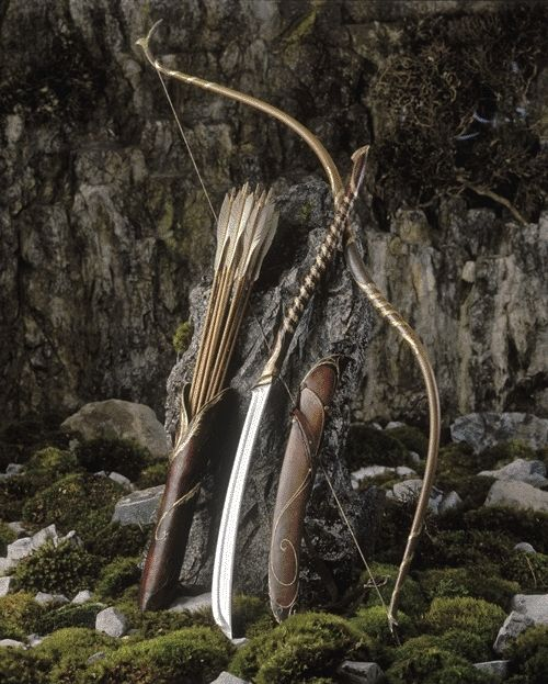 Bow and Arrows with awesome sword.