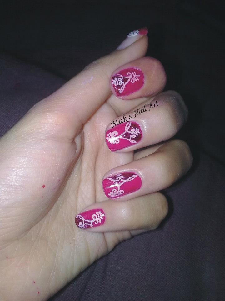 Valentines day abstract nail art