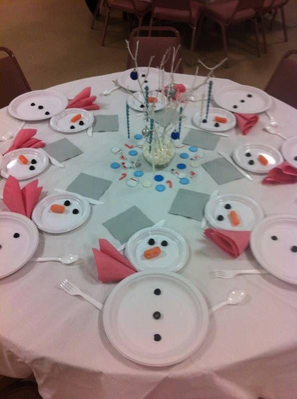 Зимняя сервировка стола «Снеговики» - Как оформить стол - Сервировка стола - Каталог статей - Устроим праздник! Праздники дома