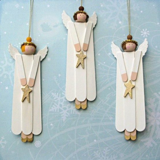 Image detail for -... Page to Table: A roundup of Homemade Craft Stick Christmas Decorations