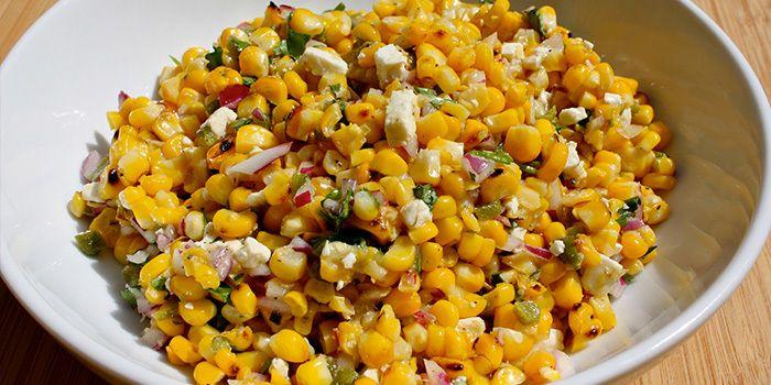 Grilled Corn and Jalapeño Salad